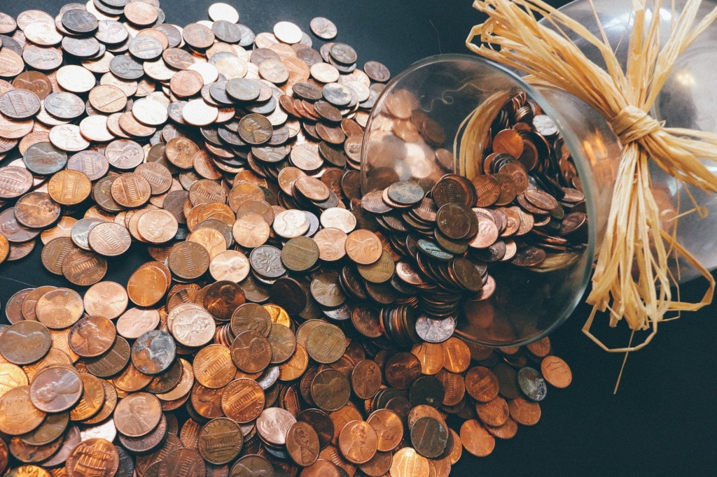 Pennies out of a jar
